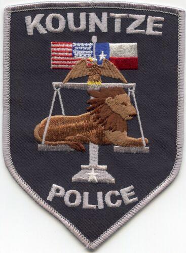 KOUNTZE TEXAS TX POLICE PATCH