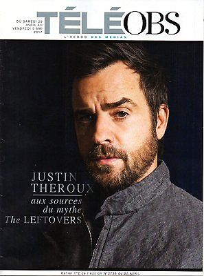 French Magazine 2017  Justin Theroux  Tv Series The Leftovers   Free Shipping