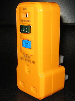 RCD Power Circuit Breaker Socket Safety Plug in Test Reset Switch Master Plug