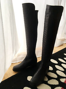 Brand New Stuart Weitzman 5050 OTK Boots in Black 6M