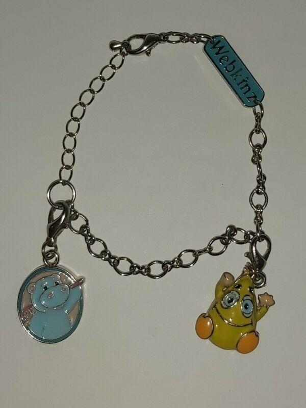 Collectible Webkinz Charms & Bracelet Wacky Zingoz & Hippo Cameo