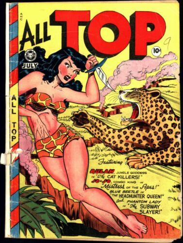 All Top Comics #12 Golden Age Fox 1.8