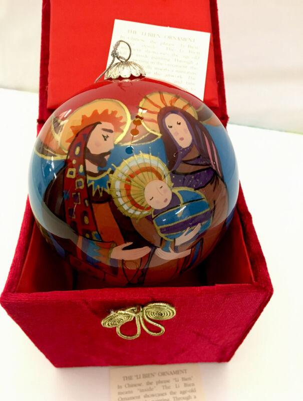 Li Bien Glass Bulb Christmas Ornament, Pier One 2006