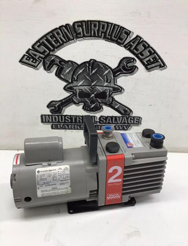 Edwards E2M2 2 Stage Vacuum Pump 115 VAC