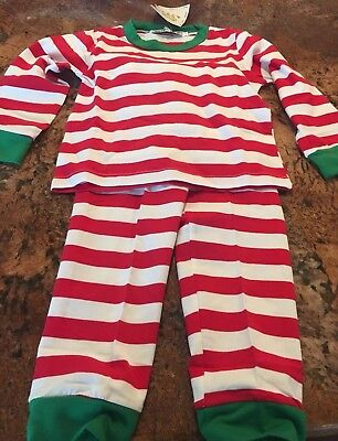 NWT Baby Bear Boutique Christmas Pajamas Boy Girl Unisex Red White Green 2T-3T - Boutique Christmas Pajamas