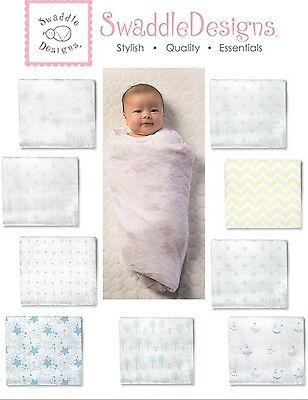 "SwaddleDesigns 100% Cotton Muslin Swaddle Blanket 46"" x 46"""