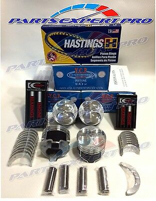 YCP 81MM HIGH COMPRESSION PISTONS BEARINGS & RINGS ACURA INTEGRA CIVIC SI TYPE R