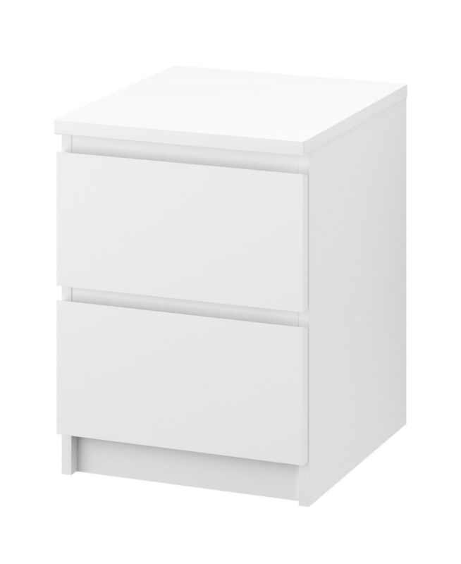 """MALM 2-drawer chest, white 15 3/4x21 5/8 """" NEW FAST SHIPPING"""