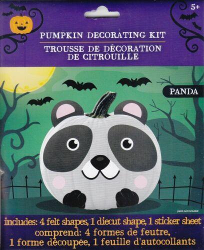 New Halloween Pumpkin Decorating Kit Felt ~ Panda