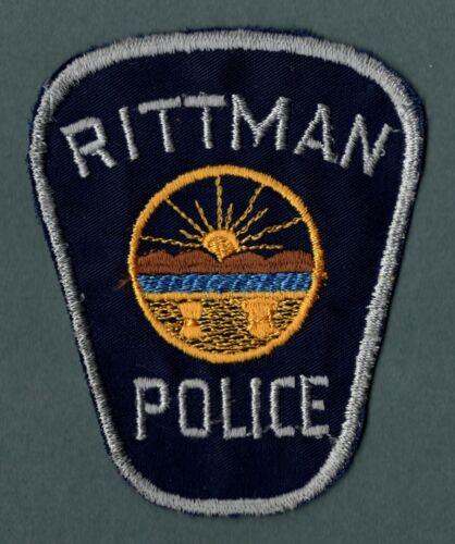 Rittman Ohio Police Patch
