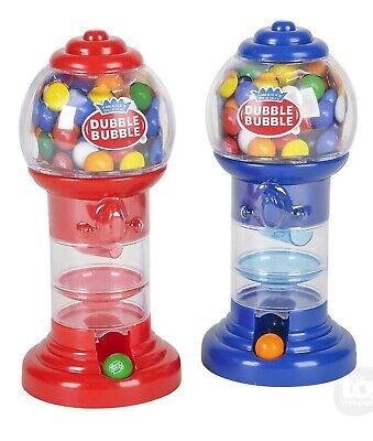 Spiral Gumball Banks Red & Blue Gum Chewing Machine Candy Dispenser Bubblegum (Gumball Dispenser)