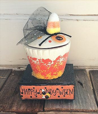 AG Designs Halloween Decor - Happy Candy-Ween Cupcake Love Candy Corn