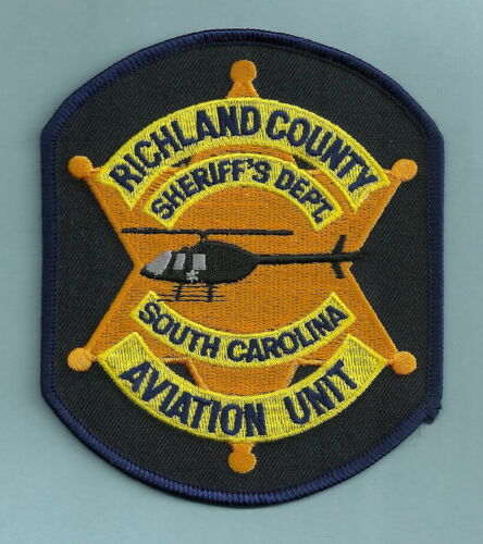 RICHLAND COUNTY SHERIFF SOUTH CAROLINA POLICE AVIATION UNIT SHOULDER PATCH