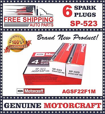 6 pcs Motorcraft Spark Plug SP523 with Dielectric Grease & Anti-Size Lubricant