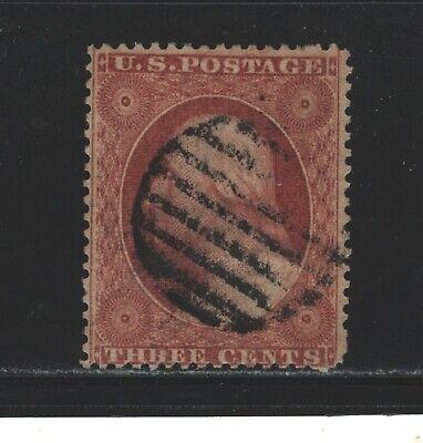 scott #26 3 cent george washington type III used dull red 1857-1861 (lot-166)