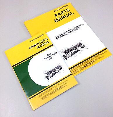 Operator Parts Manual For John Deere Fb157b Fertilizer Grain Drill Owner Catalog