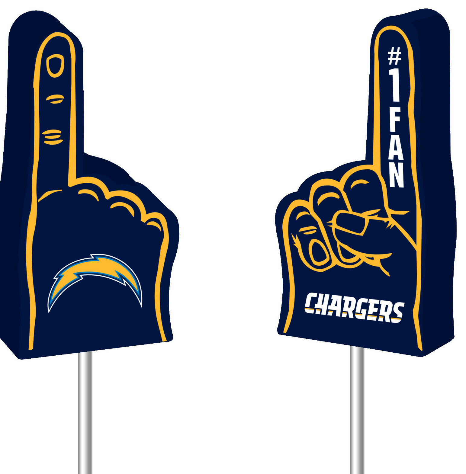 nfl los angeles chargers 1 fan antenna