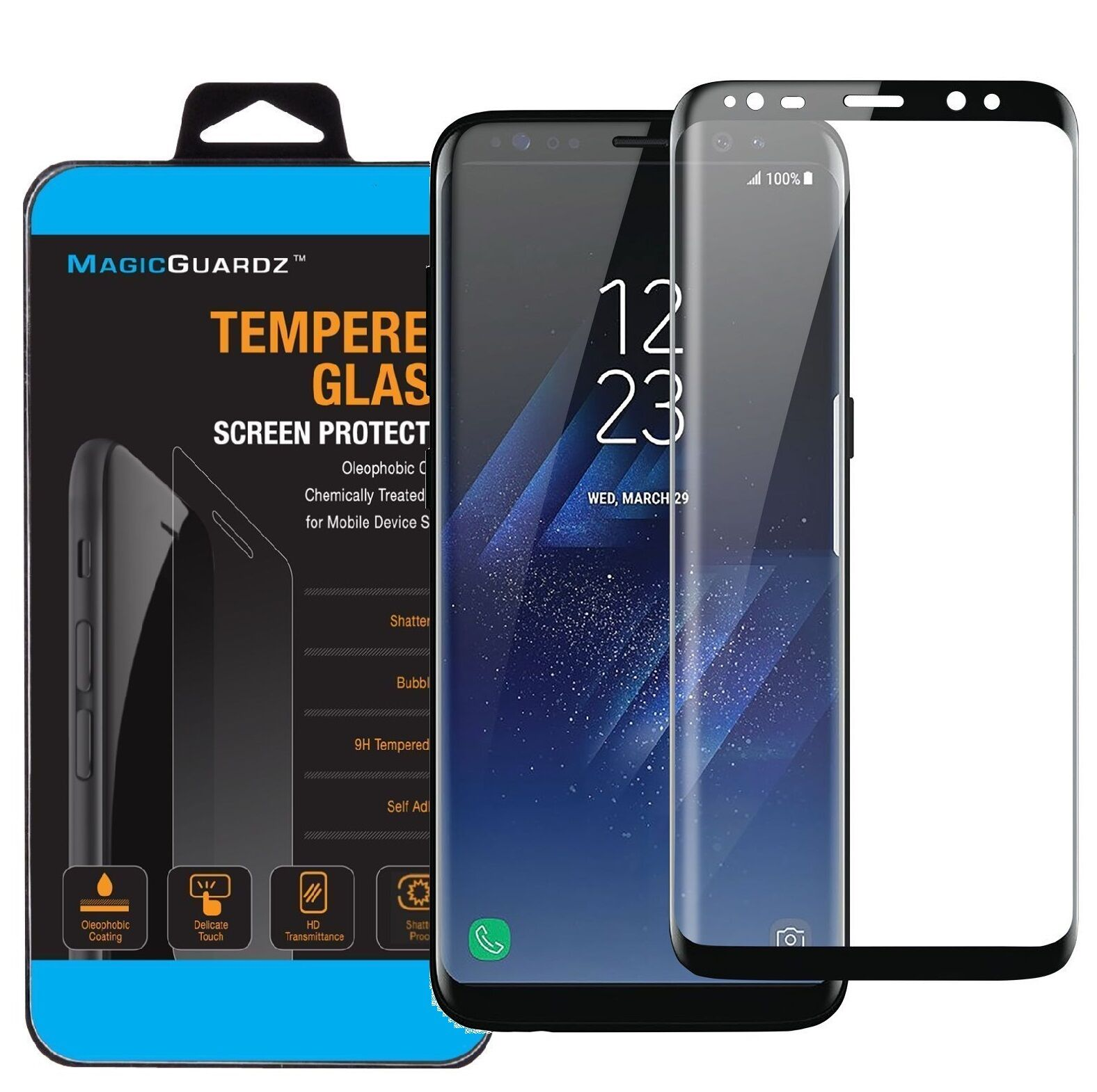 Conscientious For Samsung S8 Plus Screen Protector For Samsung Galaxy S8 Plus Tempered Glass Cover Protective Film Case 3d Full Cover Premium Cellphones & Telecommunications