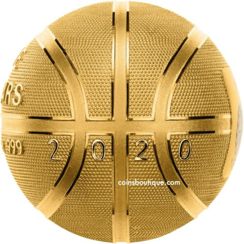 BASKETBALL SPHERICAL 1 oz Silver Coin 24K Gold Plated Samoa 2020