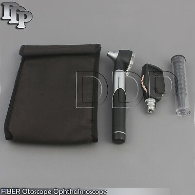Otoscope Ophthalmoscope Opthalmoscope Ent Diagnostic Examination Set Black