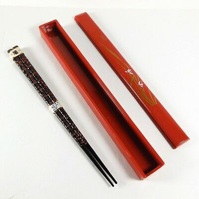 Japanese Lacquered Chopsticks in Plastic Box Made in Japan Personal Travel Set