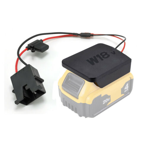 Power Wheels Battery Upgrade Kit to 18V 20V Lithium Tool Batteries Quick Connect