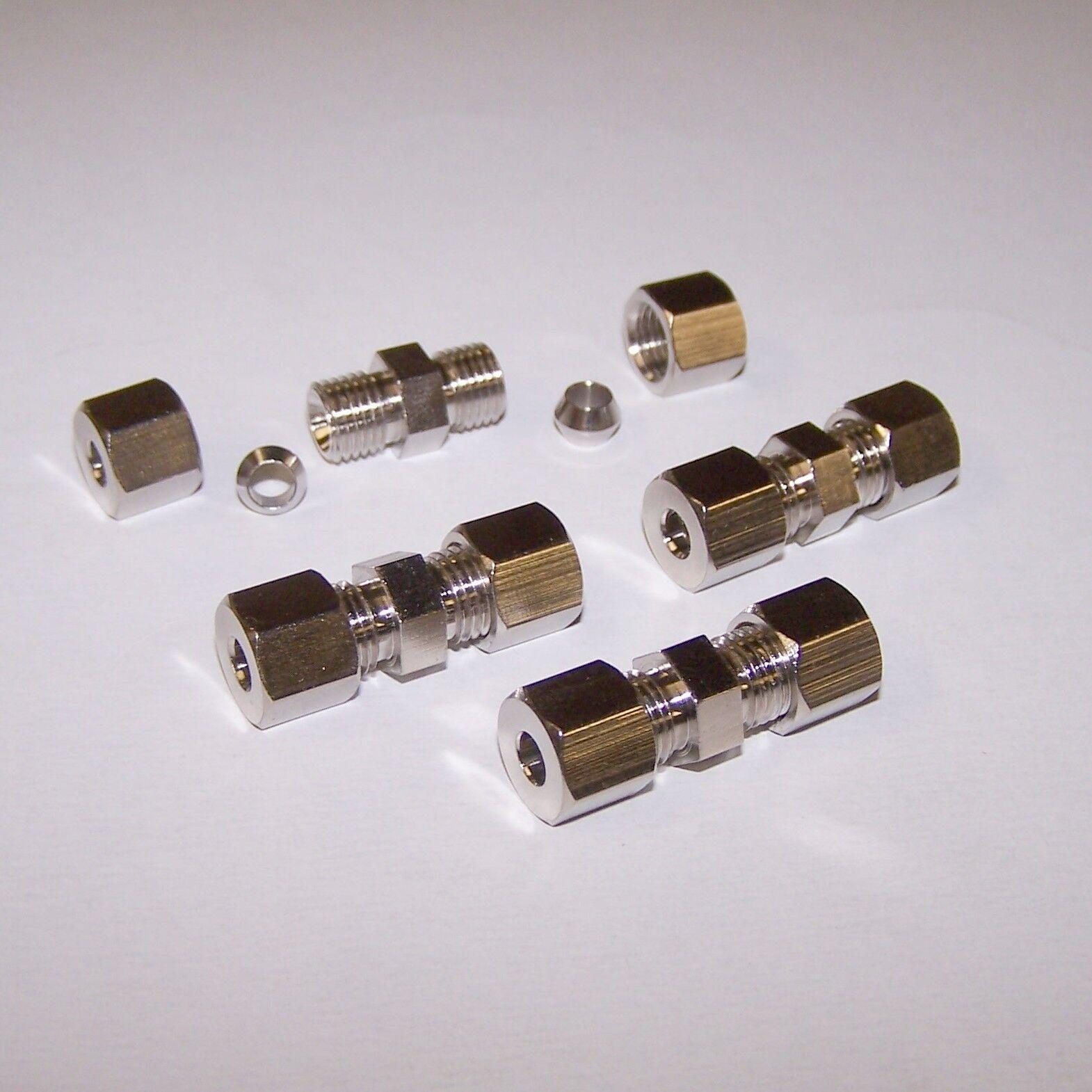 Bremsleitungsverbinder 6mm Schnellverbinder 4 Stück ATE Bremsleitung 2 Meter