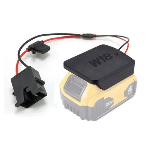 Power Wheels Battery Upgrade Adapter Conversion Kit to 18V/20V Lithium-Ion