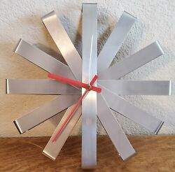 "Umbra Stainless Steel Ribbon 12"" Wall Clock Michelle Ivankovic"