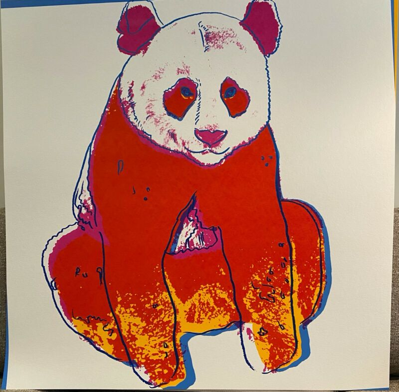 """ANDY WARHOL- """"GIANT PANDA""""- End. Species- Silkscreen-Proven Doc.-WHY PAY RETAIL?"""