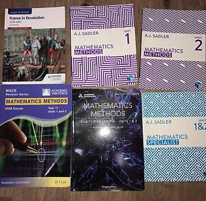 HUGE SALE! Year 11 ATAR Textbooks Methods, Specialist, Modern History Balga Stirling Area Preview