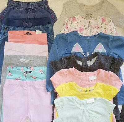 Baby Girl 6-9 Clothes bundle Tops And Leggings jeans