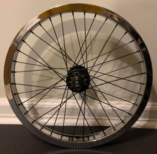 Primo Pro Mix Cassette Hula Hoop Chrome Mid School BMX Wheel MINT