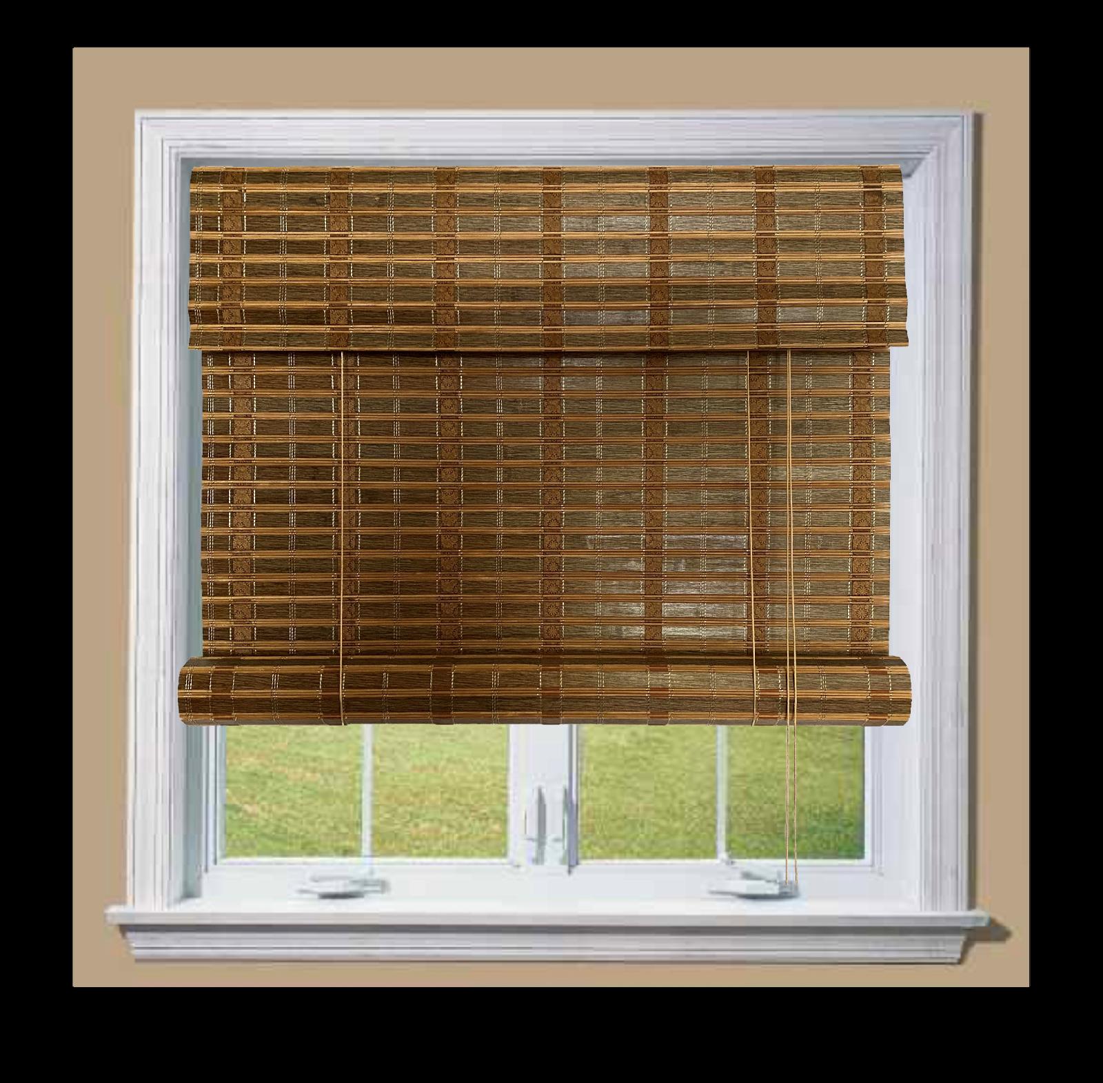 thy bamboo roll up window blinds light