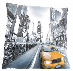 NEW YORK YELLOW TAXI B/W CUSHION COVERS PRINTED DIGITAL