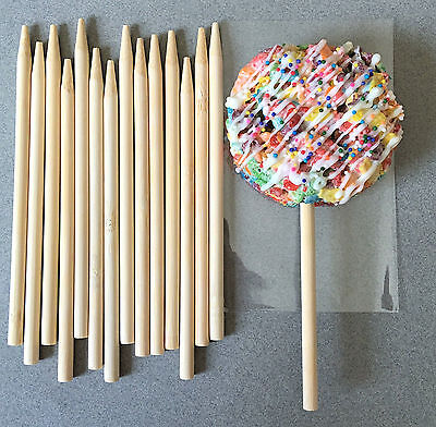 "5.5"" Wooden Candy Apple Sticks, Wooden Lollipop Sticks, Cake Pop Sticks"