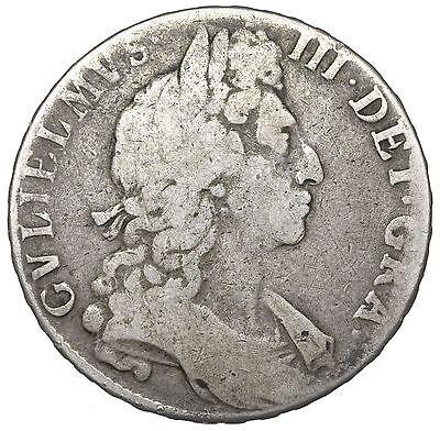 1697 HALFCROWN - WILLIAM III BRITISH SILVER COIN
