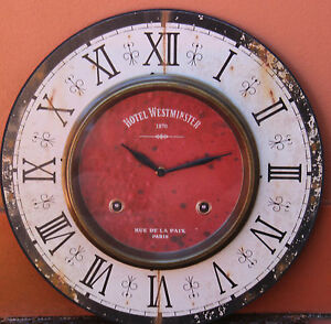 French-style-Hotel-Westminster-wood-Wall-Clock-BRAND-NEW-Only-1-Left