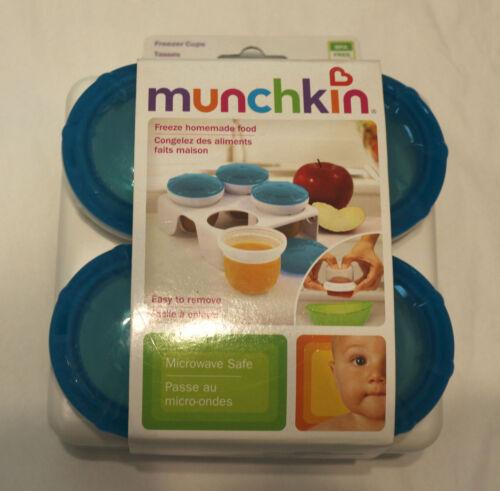 Munchkin Fresh Food Freezer Cups, Colors Blue white