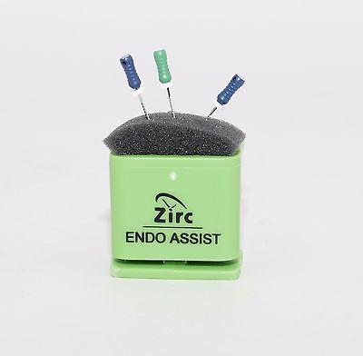 Dental Endodontic Assist Organizer With Measuring Gauge Autoclavable Green