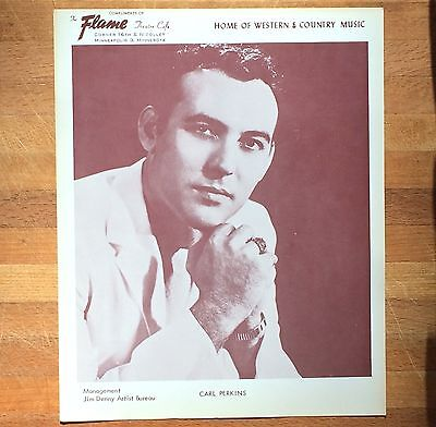 authentic Carl Perkins press photo from Mpls Flame Cafe