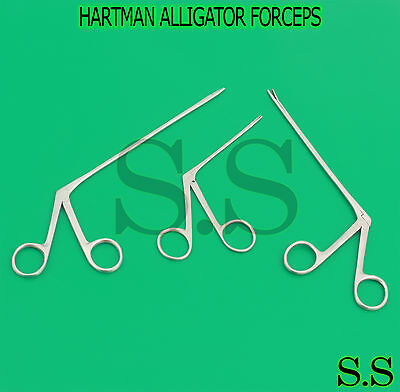 3 Pcs Hartman Alligator Forceps Serrated 3.5 5.5 6.5 Surgical Instruments