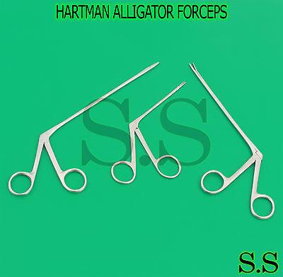 3 Pcs Hartman Alligator Forceps Serrated 3.5 5.5 6.5 Surgical Instruments