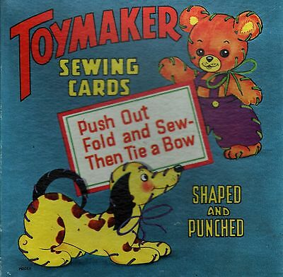 Toymaker Sewing Cards With Very Good Box 1953 Saalfield Publishing Co Akron Ohio (Sewing Cards)