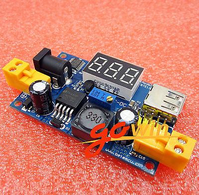 DC Buck Converter 1.25-37V Step-Down Power Module+LED Voltmeter LM2596