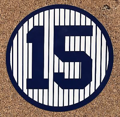 """Thurman Munson NY Yankees The Captain number 15 3"""" sticker"""