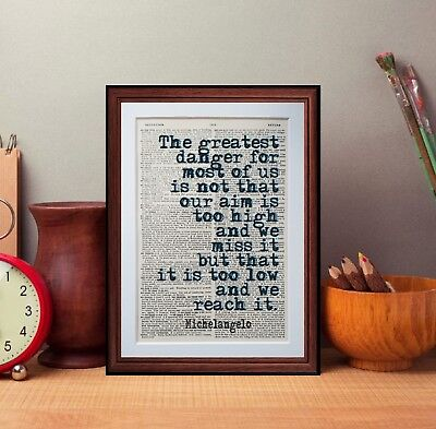 Michelangelo Dictionary page art print gift literary gift irvine welsh