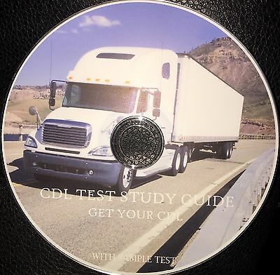 CDL Test Study Guide . With Exam And Answers CD ROM .Commercial Driver License .