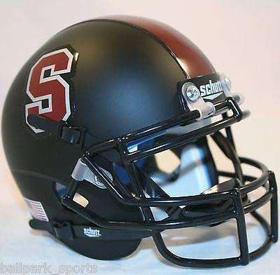 Stanford Cardinal  Matte Black  Schutt Xp Mini Helmet