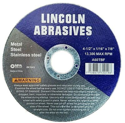 40 Pack 4-12 116 Cut-off Wheel 4.5 Cutting Discs Stainless Steel Metal
